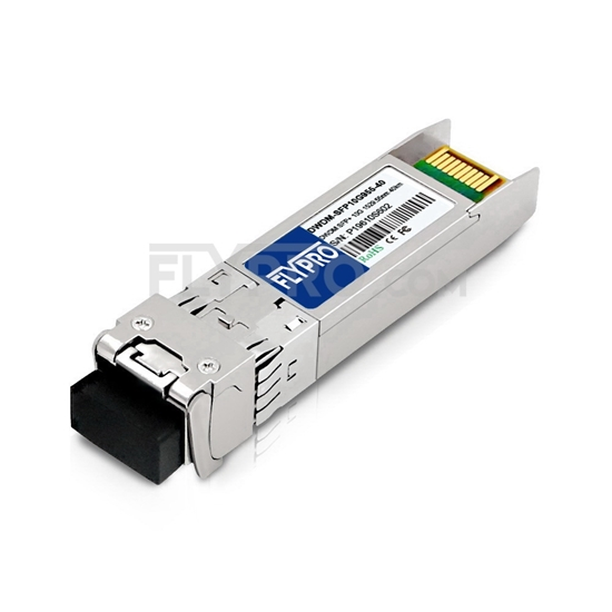 Picture of Brocade C60 10G-SFPP-ZRD-1529.55 Compatible 10G DWDM SFP+ 100GHz 1529.55nm 40km DOM Transceiver Module