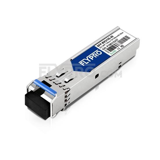 Picture of HUAWEI BiDi SFP-GE-20-SM1310-D Compatible 1000BASE-BX BiDi SFP 1310nm-TX/1550nm-RX 20km DOM Transceiver Module