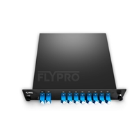 Picture of CWDM/DWDM Hybrid Solution, 8 Channels C53-C60, with Expansion Port, LC/UPC, Dual Fiber DWDM Mux Demux, FMU Plug-in Module