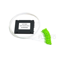 Picture of 1x8 PLC Fiber Splitter, Splice/Pigtailed ABS Module, 900μm, SC/APC, Singlemode