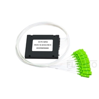 Picture of 1x16 PLC Fiber Splitter, Splice/Pigtailed ABS Module, 900μm, SC/APC, Singlemode