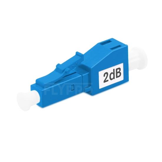 Picture of LC/UPC Single Mode Fixed Fiber Optic Attenuator, Male-Female, 2dB