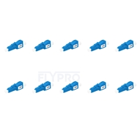 Picture of LC/UPC Single Mode Fixed Fiber Optic Attenuator, Male-Female, 2dB (10pcs/Pack)