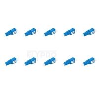 Picture of LC/UPC Single Mode Fixed Fiber Optic Attenuator, Male-Female, 3dB (10pcs/Pack)