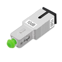 Picture of SC/APC Singlemode Fixed Fiber Optic Attenuator, Male-Female, 10dB
