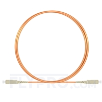 Picture of 1m (3ft) SC UPC to SC UPC Simplex OM1 Multimode PVC (OFNR) 2.0mm Fiber Optic Patch Cable