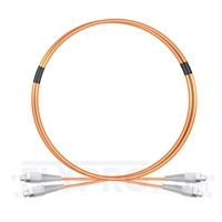 Picture of 1M FC UPC to FC UPC Duplex 2.0mm PVC(OFNR) OM1 Multimode Fiber Optic Patch Cable