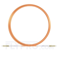 Picture of 5m (16ft) LC UPC to LC UPC Simplex OM1 Multimode PVC (OFNR) 2.0mm Fiber Optic Patch Cable