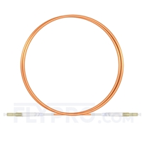 Picture of 2m (7ft) LC UPC to LC UPC Simplex OM1 Multimode PVC (OFNR) 2.0mm Fiber Optic Patch Cable