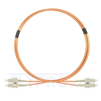 Picture of 2m (7ft) SC UPC to SC UPC Duplex OM2 Multimode LSZH 2.0mm Fiber Optic Patch Cable