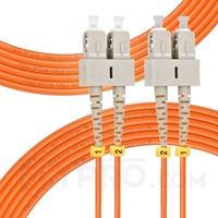 Picture of 10m (33ft) SC UPC to SC UPC Duplex 3.0mm PVC (OFNR) OM2 Multimode Fiber Optic Patch Cable