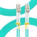 صورة  كابل توصيل فايبر متعدد 1 متر (3 قدم) LC UPC to LC UPC Duplex OM3 Multimode PVC (OFNR) 2.0mm