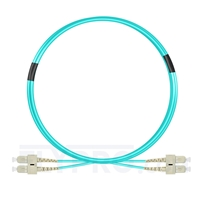Picture of 3m (10ft) SC UPC to SC UPC Duplex OM3 Multimode PVC (OFNR) 2.0mm Fiber Optic Patch Cable