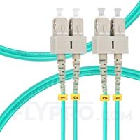 Bild von 2m (7ft) SC UPC to SC UPC Duplex OM3 Multimode PVC (OFNR) 2.0mm Fiber Optic Patch Cable