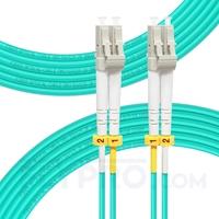 صورة كابل توصيل فايبر متعدد 15 متر (49 قدم) LC UPC to LC UPC Duplex OM3 Multimode LSZH 2.0mm