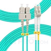 Bild von 7m (23ft) LC UPC to SC UPC Duplex OM3 Multimode OFNP 2.0mm Fiber Optic Patch Cable