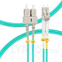 Bild von 1m (3ft) LC UPC to SC UPC Duplex OM4 Multimode OFNP 2.0mm Fiber Optic Patch Cable