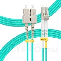 Bild von 5m (16ft) LC UPC to SC UPC Duplex OM4 Multimode OFNP 2.0mm Fiber Optic Patch Cable