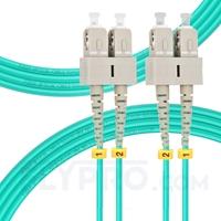 Bild von 3m (10ft) SC UPC to SC UPC Duplex 3.0mm PVC (OFNR) OM4 Multimode Fiber Optic Patch Cable