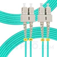 Bild von 7m (23ft) SC UPC to SC UPC Duplex 3.0mm PVC (OFNR) OM4 Multimode Fiber Optic Patch Cable