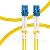 صورة  كابل توصيل فايبر أحادي 1 متر (3 قدم) LC UPC to LC UPC Duplex OS2 Single Mode PVC (OFNR) 2.0mm