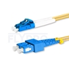 صورة  كابل توصيل فايبر أحادي 1 متر (3 قدم) LC UPC to SC UPC Duplex OS2 Single Mode PVC (OFNR) 2.0mm
