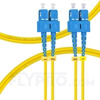 Bild von LWL-Patchkabel, 1m (3ft) SC UPC auf SC UPC Duplex OS2 Singlemode PVC (OFNR) 2.0mm
