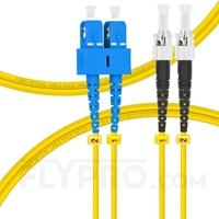 Bild von LWL-Patchkabel, 1m (3ft) SC UPC auf ST UPC Duplex OS2 Singlemode PVC (OFNR) 2.0mm
