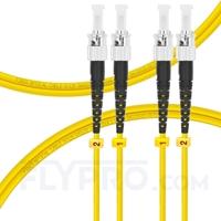 Bild von LWL-Patchkabel, 1m (3ft) ST UPC auf ST UPC Duplex OS2 Singlemode PVC (OFNR) 2.0mm