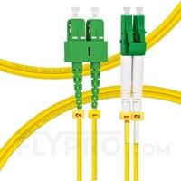 Bild von LWL-Patchkabel, 1m (3ft) LC APC auf SC APC Duplex OS2 Singlemode PVC (OFNR) 2.0mm
