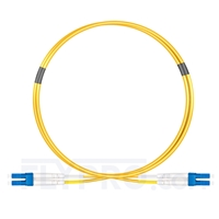 Bild von LWL-Patchkabel, 1m (3ft) LC UPC auf LC UPC Duplex OS2 Singlemode OFNP 2.0mm
