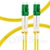 صورة  كابل توصيل فايبر أحادي 1 متر (3 قدم) LC APC to LC APC Duplex 2.0mm OFNP 9/125 Single Mode