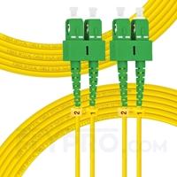 Bild von 20m (66ft) SC APC to SC APC Duplex 3.0mm PVC (OFNR) 9/125 Single Mode Fiber Patch Cable