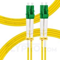 Bild von 3m (10ft) LC APC to LC APC Duplex 3.0mm PVC (OFNR) 9/125 Single Mode Fiber Patch Cable