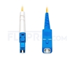 Picture of 1m (3ft) LC UPC to SC UPC Simplex OS2 Single Mode PVC (OFNR) 2.0mm Fiber Optic Patch Cable