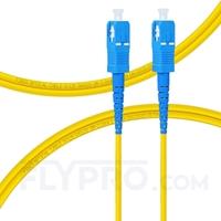 Bild von LWL-Patchkabel, 2m (7ft) SC UPC auf SC UPC Simplex OS2 Singlemode PVC (OFNR) 2.0mm