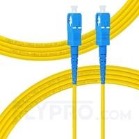 Bild von LWL-Patchkabel, 3m (10ft) SC UPC auf SC UPC Simplex OS2 Singlemode PVC (OFNR) 2.0mm