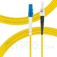Bild von LWL-Patchkabel, 3m (10ft) LC UPC auf ST UPC Simplex OS2 Singlemode PVC (OFNR) 2.0mm