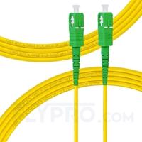 Bild von LWL-Patchkabel, 3m (10ft) SC APC auf SC APC Simplex OS2 Singlemode PVC (OFNR) 2.0mm