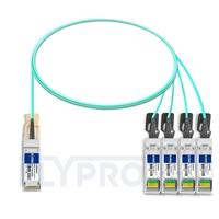 Bild von Brocade 100G-Q28-S28-AOC-0101 Kompatibles 100G QSFP28 auf 4x25G SFP28 Breakout Aktives Optisches Kabel (AOC), 1m (3ft)