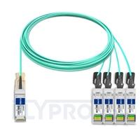 Bild von Brocade 100G-Q28-S28-AOC-1501 Kompatibles 100G QSFP28 auf 4x25G SFP28 Breakout Aktives Optisches Kabel (AOC), 15m (49ft)