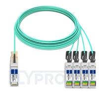 Bild von Brocade 100G-Q28-S28-AOC-2501 Kompatibles 100G QSFP28 auf 4x25G SFP28 Breakout Aktives Optisches Kabel (AOC), 25m (82ft)