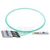 Picture of 1m (3ft) Cisco QSFP-4SFP25G-AOC1M Compatible 100G QSFP28 to 4x25G SFP28 Breakout Active Optical Cable