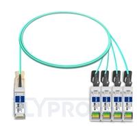 Picture of 2m (7ft) Cisco QSFP-4SFP25G-AOC2M Compatible 100G QSFP28 to 4x25G SFP28 Breakout Active Optical Cable