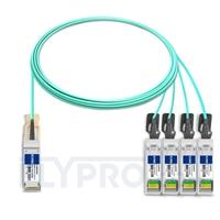 Picture of 5m (16ft) Cisco QSFP-4SFP25G-AOC5M Compatible 100G QSFP28 to 4x25G SFP28 Breakout Active Optical Cable