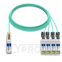 Picture of 20m (66ft) Cisco QSFP-4SFP25G-AOC20M Compatible 100G QSFP28 to 4x25G SFP28 Breakout Active Optical Cable