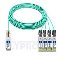 Picture of 50m (164ft) Cisco QSFP-4SFP25G-AOC50M Compatible 100G QSFP28 to 4x25G SFP28 Breakout Active Optical Cable