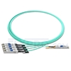 Picture of 3m (10ft) Dell AOC-Q28-4SFP28-25G-3M Compatible 100G QSFP28 to 4x25G SFP28 Breakout Active Optical Cable