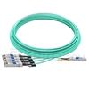 Picture of 25m (82ft) Dell AOC-Q28-4SFP28-25G-25M Compatible 100G QSFP28 to 4x25G SFP28 Breakout Active Optical Cable