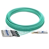 Picture of 50m (164ft) Dell AOC-Q28-4SFP28-25G-50M Compatible 100G QSFP28 to 4x25G SFP28 Breakout Active Optical Cable